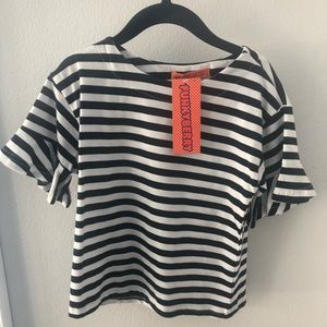 NWT Funkyberry Navy Striped Top